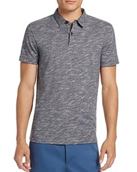 Theory Bron Ocean Slub Slim Fit Polo Shirt 100 Bloomingdale's Exclusive Eclipse