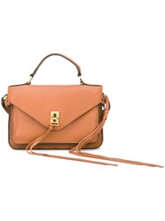Rebecca Minkoff Fringed Detail Small Tote Nude And Neutrals