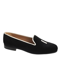 Stubbs And Wootton For J.Crew I Do Slippers Black White