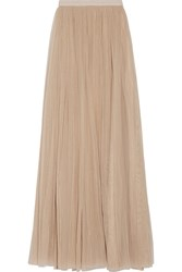 Needle And Thread Tulle Maxi Skirt Beige