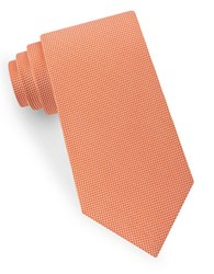 Lord And Taylor Textured Silk Tie Orange