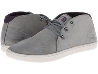 The North Face Base Camp Leather Chukka Monument Grey Dark Eggplant Purple Men's Shoes Gray