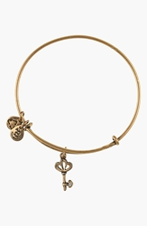 Alex And Ani 'Skeleton Key' Expandable Wire Bangle Gold