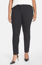 'Super Smooth' Stretch Skinny Jeans Black Plus Size Nordstrom Exclusive