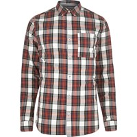River Island Mens Red Tartan Check Shirt