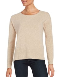 Lord And Taylor Long Sleeve Cashmere Pullover Flax Heather