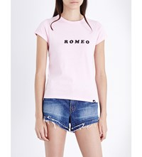 Illustrated People Romeo Cotton Jersey T Shirt Pink