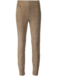 Ralph Lauren Black Label Cropped Trousers Nude And Neutrals