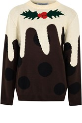 Alice And You Christmas Pudding Jumper Brown