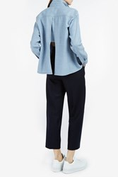 Rachel Comey Denim Effect Wool Twill Shirt Blue