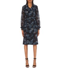 Burberry Dartford Lace Trench Coat Ink Blue