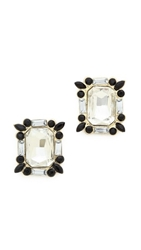 Juliet And Company Genie Stud Earrings Black Clear