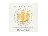 Dogeared Gratitude Mandala Center Flower Ring Gold Dipped Ring