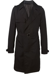 Lanvin Belted Trench Coat Black