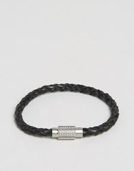 Polo Ralph Lauren Leather Plaited Bracelet Black