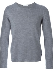Societe Anonyme Fine Knit Striped Sweater Grey