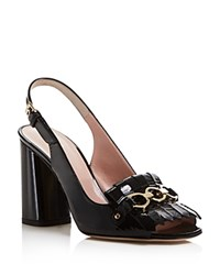 Kate Spade New York Caileen Kiltie Open Toe High Heel Pumps Black