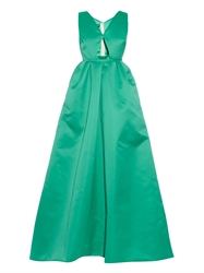 Rochas Cut Out Front Duchess Satin Gown