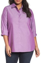 Foxcroft Plus Size Women's 'Vanessa' No Iron Cotton Shirt