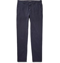 Dolce And Gabbana Slim Fit Washed Cotton Trousers Blue