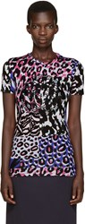 Versace Multicolor Embroidered T Shirt