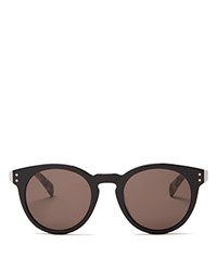Marc By Marc Jacobs Keyhole Round Sunglasses Black Havana Brown Gray Solid
