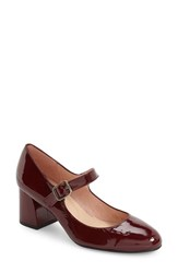 French Sole Women's Tycoon Mary Jane Pump Wine Patent
