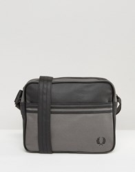Fred Perry Coated Canvas Messenger Bag Black