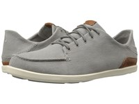Olukai Manoa Fog Mustard Men's Shoes Gray