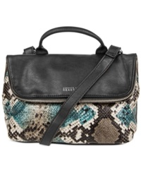 Kenneth Cole Reaction The Rollover Mini Crossbody Black Snake