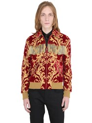 Saint Laurent Fringed Lurex And Brocade Teddy Jacket