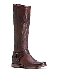 Frye Harness Tall Boots Phillip Dark Brown