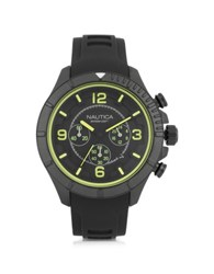 Nautica Black Stainless Steel Case And Rubber Strap Men's Watch