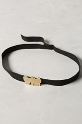 Anthropologie Cactus Suede Belt Black