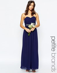 Tfnc Petite Wedding Bandeau Chiffon Maxi Dress Navy