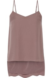 Theory Vaneese Silk Georgette Camisole Brown