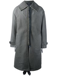 Lanvin Fur Lined Parka Green