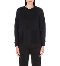The Kooples Batwing Cotton Blend Hoody Black