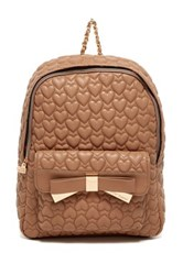 Betsey Johnson Be Mine Forever Backpack Beige