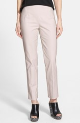 Petite Women's Nic Zoe 'The Perfect' Side Zip Ankle Pants Powder