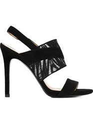 Stella Luna Stiletto Sandals Black