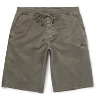 James Perse Stretch Cotton Shorts Green