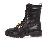 River Island Womens Black Engineer Boots