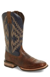 Men's Ariat 'Tycoon' Nine Row Stitch Cowboy Boot Brown Leather