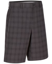 Greg Norman For Tasso Elba Men's Big And Tall Willis Plaid Shorts Only At Macy's Charcoal