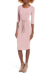 Everly Women's Tie Front Knit Midi Dress