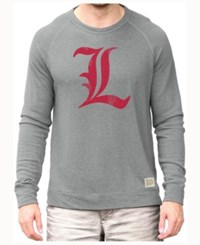 Retro Brand Men's Louisville Cardinals Quad Crew Sweatshirt Gray