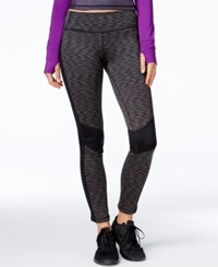 Ideology Id Warm Space Dyed Fleece Leggings Only At Macy's Noir Space Dye