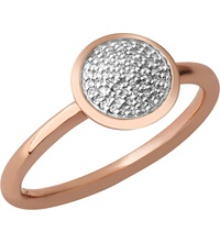 Links Of London Diamond Essentials 18Ct Rose Gold Vermeil And Diamond Ring