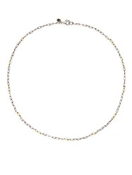 Jude Frances 3Mm White Cultured Pearl And Sterling Silver Chain Necklace